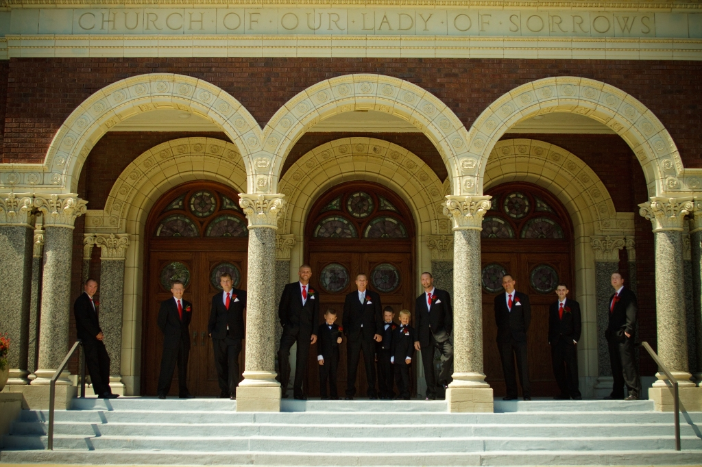 Groomsmen at Our Lady Of Sorrows