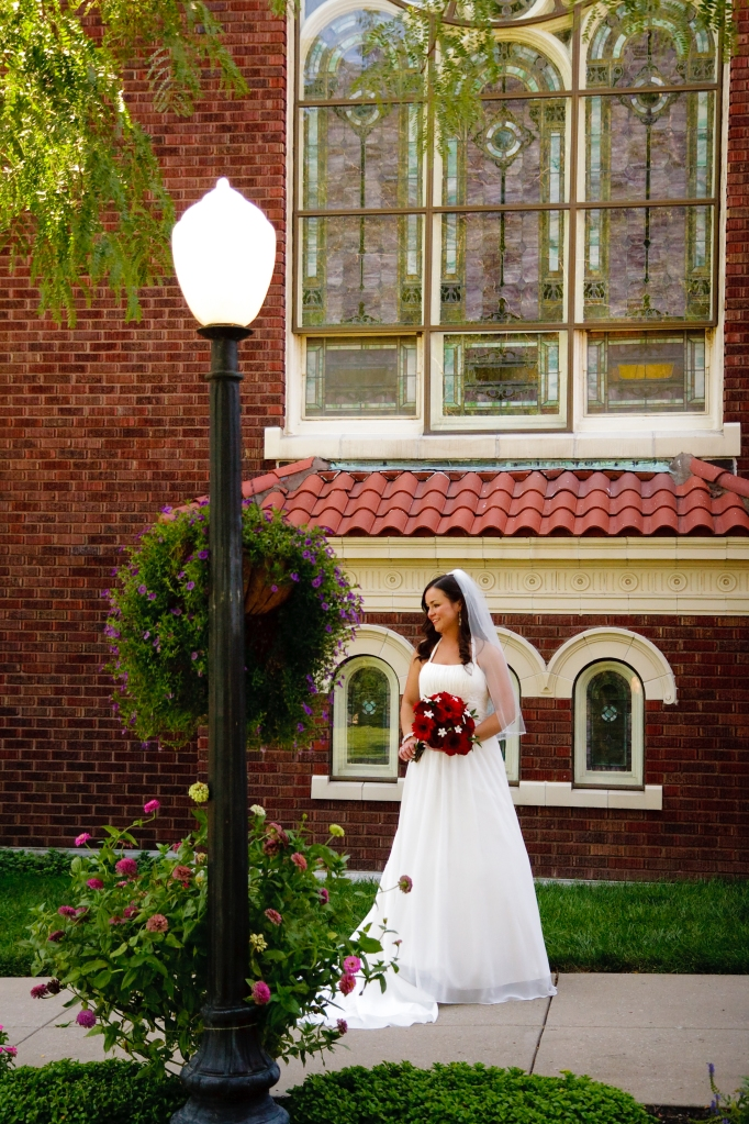 Bride outside Our Lady of Sorrows