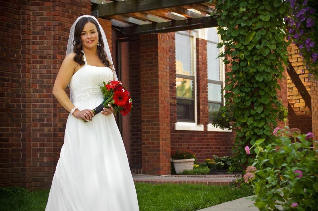 Bride at Church in Kansas City