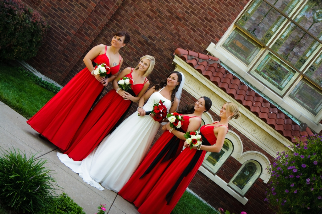 Bridesmaids at Our Lady of Sorrows