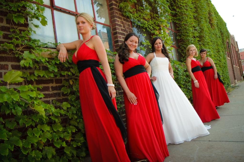 Bridesmaids in Crossroads District