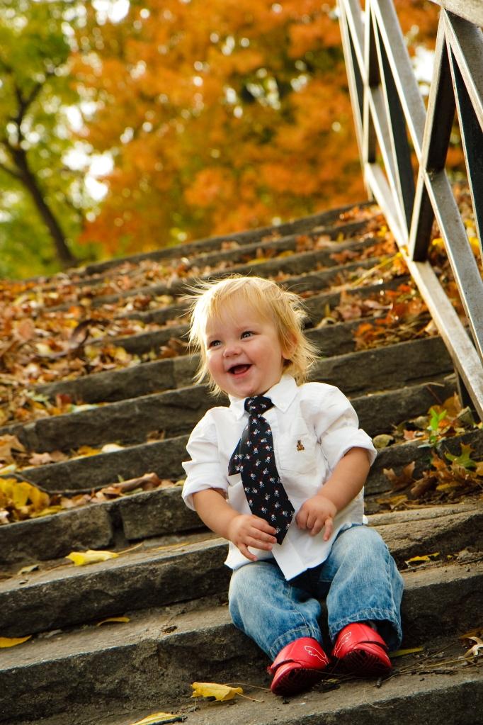 Baby portrait on Fall Day Kansas City